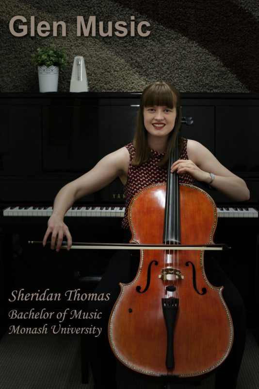 Glen Music - Cello Teacher - Sheridan Thomas