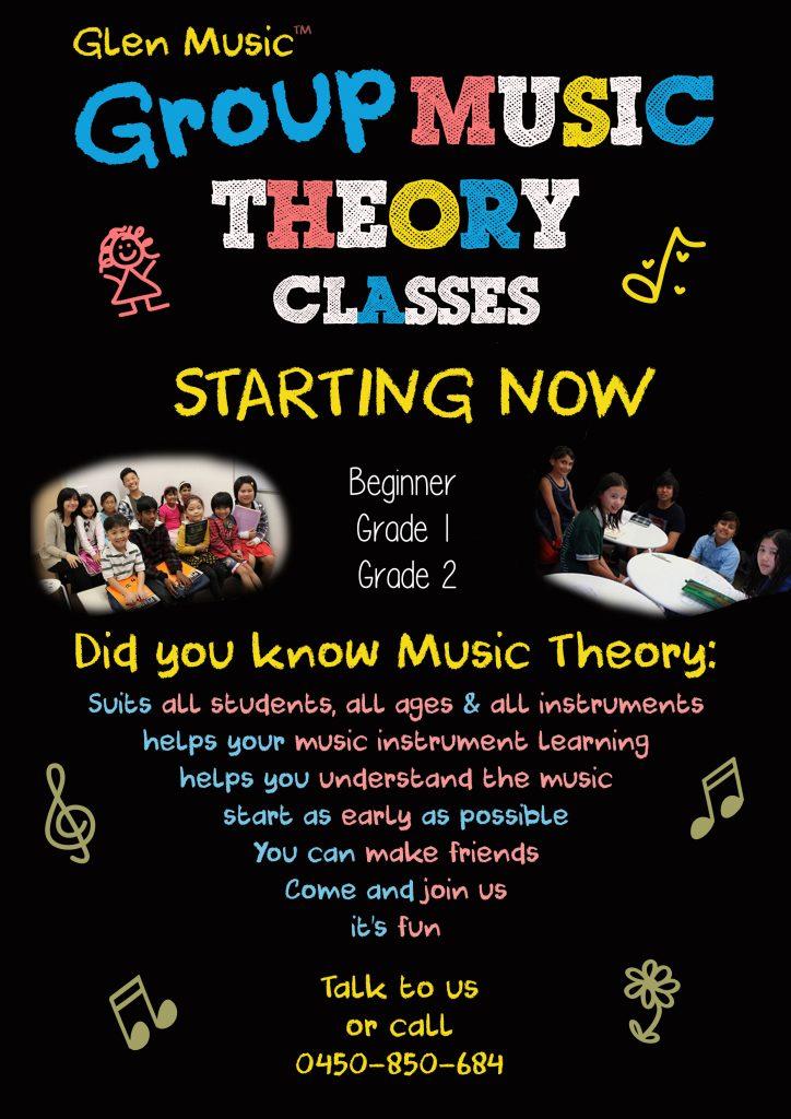 Glen Music - Music Theory Flyer